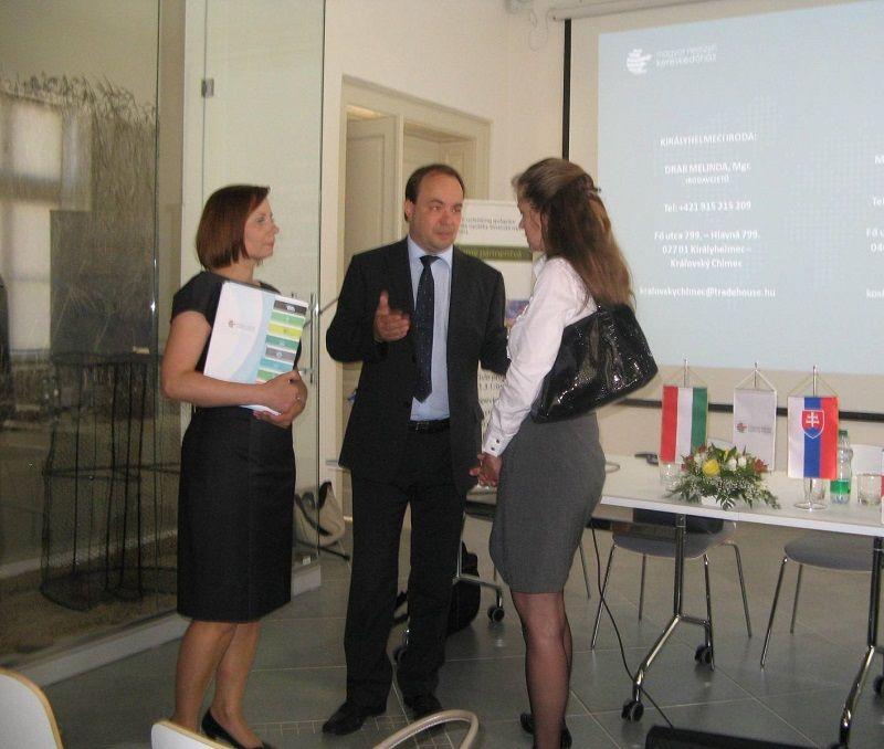 A szervezők (balról)_Drab Melinda (MNKH-Királyhelmec), Mihók Gábor (MNKH-Kassa), Dr.Nagy Szilvia (MFK-Budapest)
