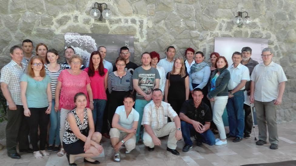 A tréningen résztvevő csoport (Fotó: mfk.gov.hu)