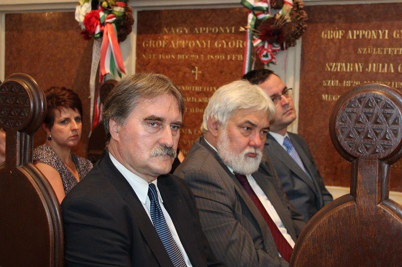 Bárdos Gyula, Molnár Imre és Kiss Balázs az Apponyi kápolnában (Fotó: Neszméri Tünde)