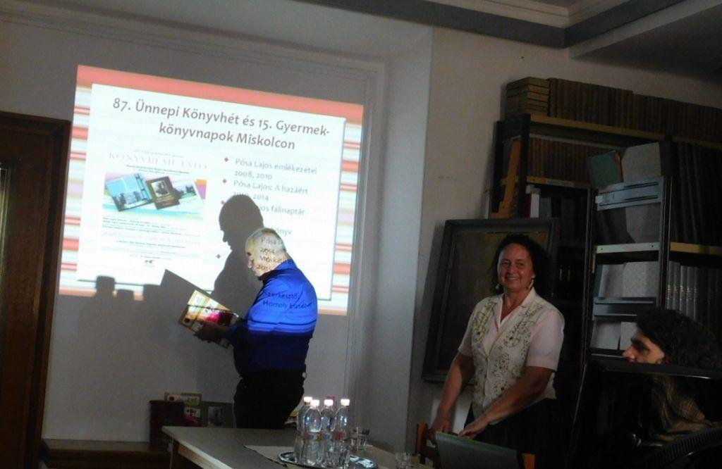 A Herman Ottó Múzeumban is tartottak könyvbemutatókat Bodnár Mónika szervezésében (Fotó: Pósa Dénes)
