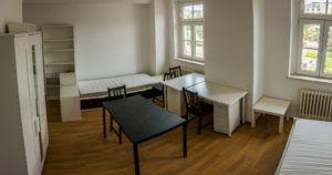 Színvonalas, korszerűen berendezett szobák várják a pozsonyi kollégistákat. (Fotó: Diákhálózat)