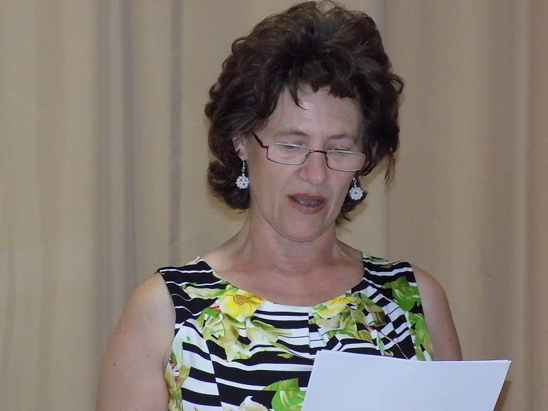 Povinszky Elvira, a TV titkára gazdasági beszámolót tartott (Fotó: HE)