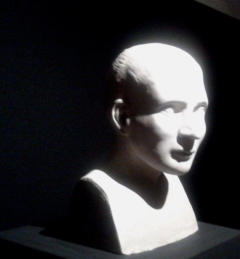 Serédy Zsófia mellszobra, az antropológiai kutatás alapján (Fotó: Beke Beáta)