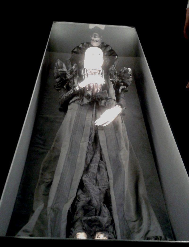Serédy Zsófia mumifikálódott teste (Fotó: Beke Beáta)