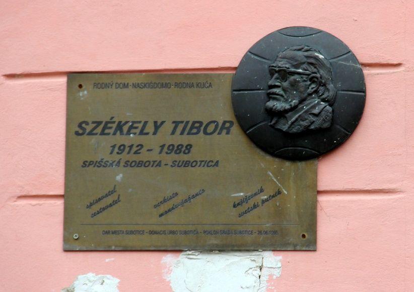 Székely Tibor emléktáblája Szepesszombaton