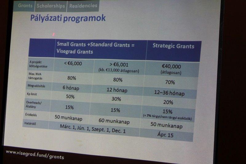 A Nemzetközi Visegrádi Alap programjai