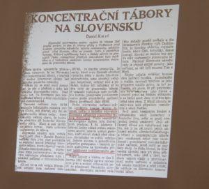 A cikk, amelyben beszámolnak a koncentrációs táborokról