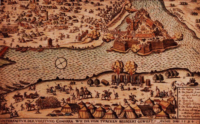 A gyakori török ostromok egyikének ábrázolása korabeli metszeten.