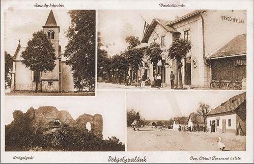 A szerző gyűjteményéből - rajta a várom romjai és a Szondi-kápolna