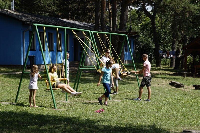 A gyerekek birtokba vették a tábort (Fotó: HA)