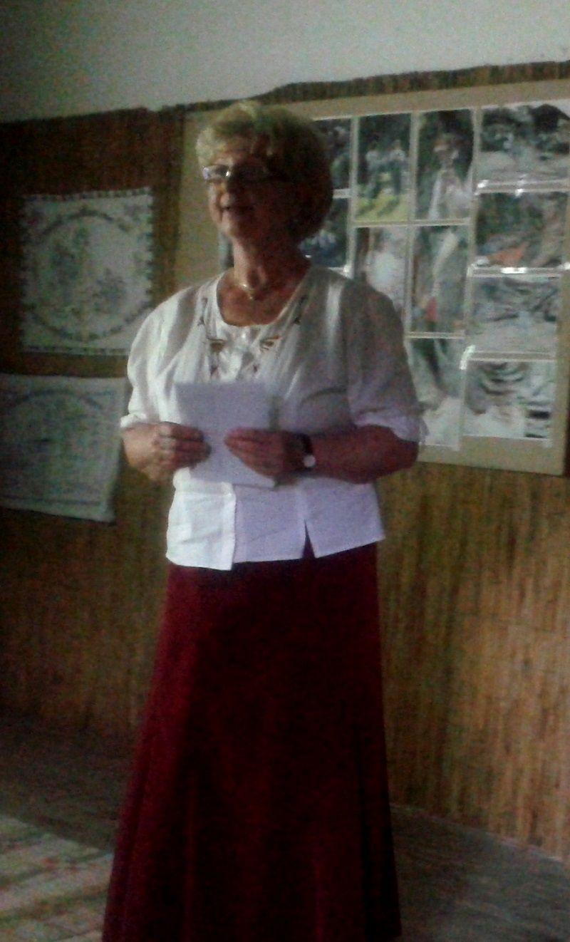 Dériné Érsek Ágnes, a Hegyaljai Mesterek Népművészeti Egyesület képviseletében (Fotó: BB)