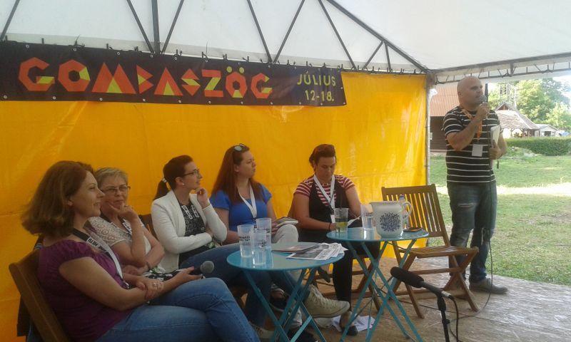 A panelbeszélgetés szereplői. (Fotó: bb/Felvidék.ma)