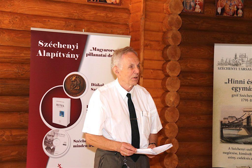 Dr. Cserháti László,, a Széchenyi Társaság alelnöke