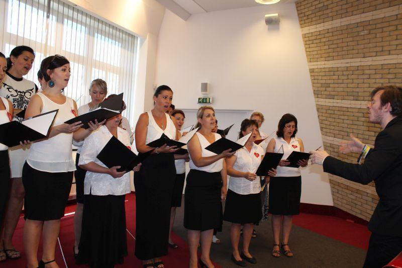 Énekszóval nyílt meg a jubileumi rendezvénysorozat. (Fotó: nt)