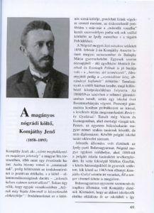 Komjáthy Jenő portréja a szerző könyvében