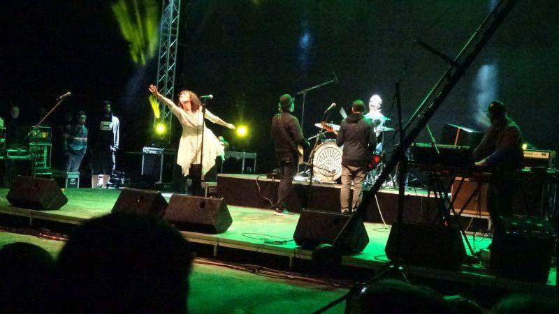 Koncert Gombaszögön. (Fotó: gg)