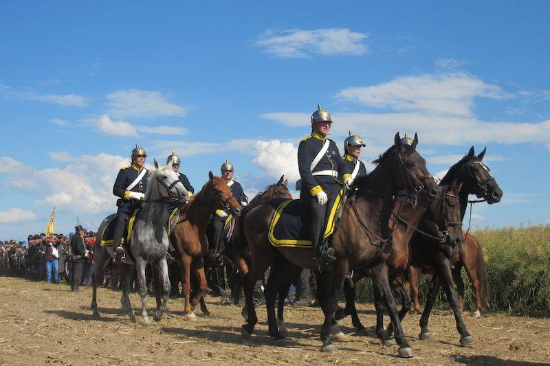 Korabeli lovasok felvonulása (Fotó:novinky.cz)