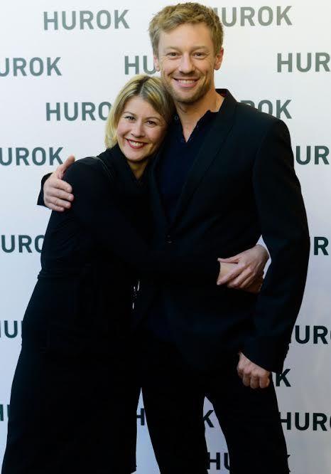 Feleségével a Hurok című film premierjén. Fotó: a művész archívuma