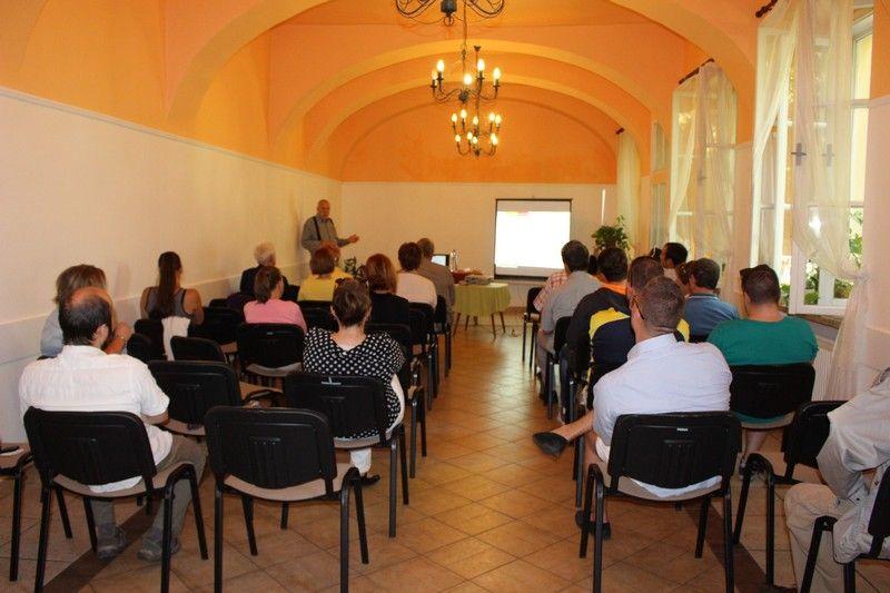 A Visegrádi Alapról szóló előadás Komáromban (Fotó: SZE/Felvidék.ma)
