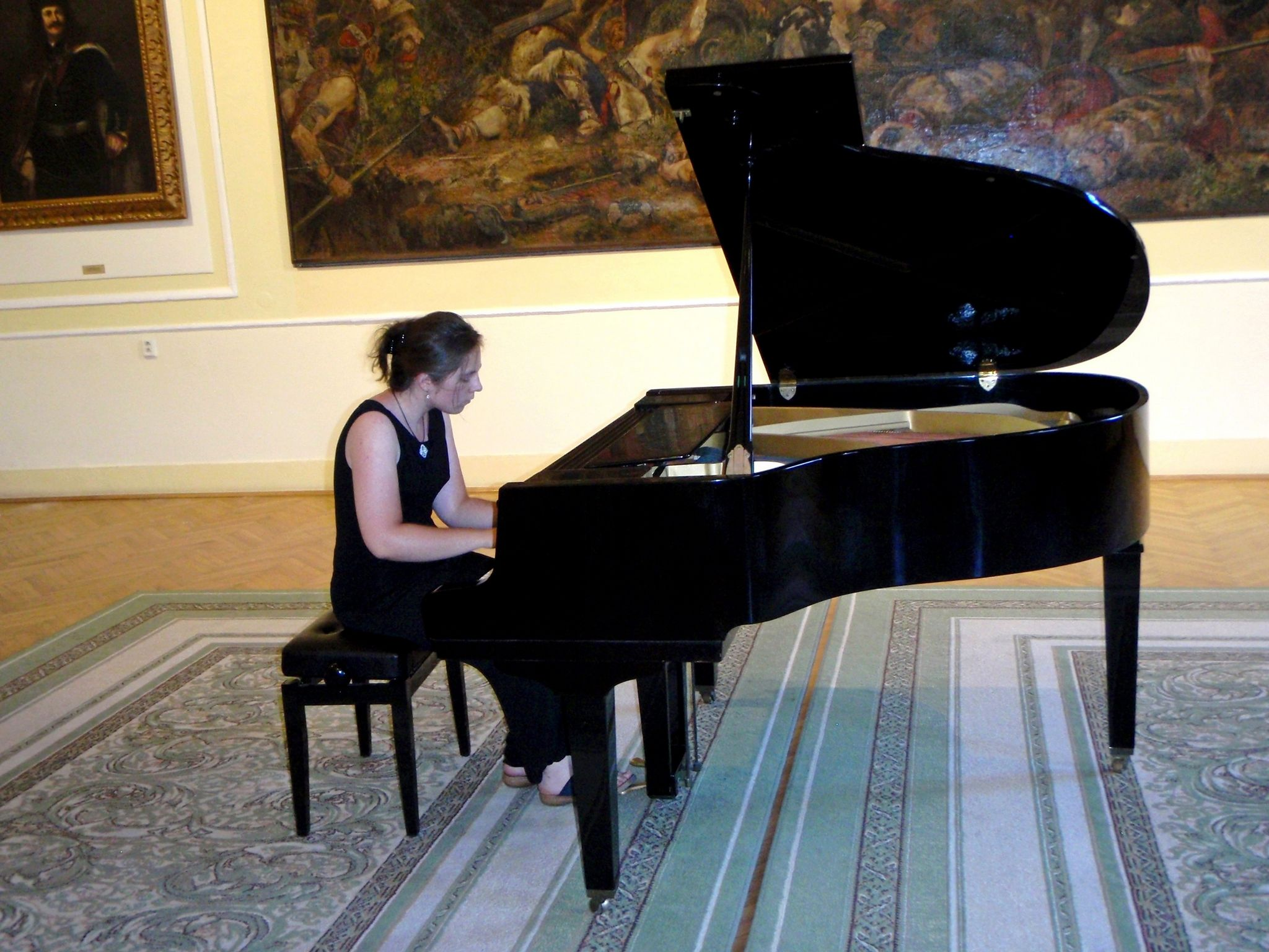 Az ógyallai Tereza Jaďuďová több zongoraversenyen indult már. Fotó: Bárány János