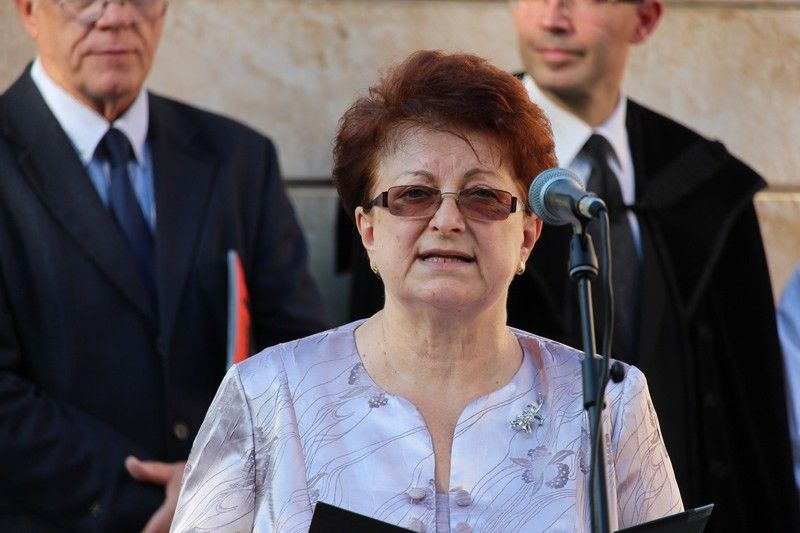 Keszegh Margit, a Jókai Közművelődési és Múzeum Egyesület elnöke (Fotó: Szalai Erika/Felvidék.ma)