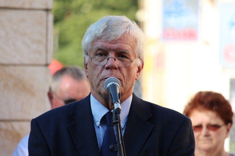 Koltay Gábor film- és színházi rendező mondta az ünnepi beszédet (Fotó: Szalai Erika/Felvidék.ma)
