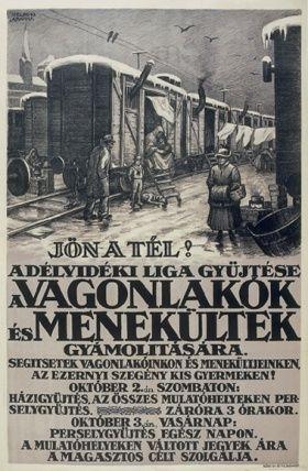 A Délvidéki Liga adománygyűjtő plakátja. Fotó: Magyar Digitális Könyvtár