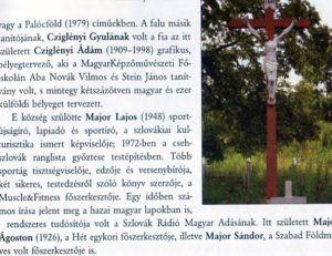 A falu jeles szülötteit bemutató rész. Csáky Károly repr.