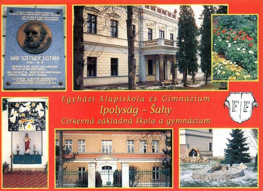 A volt magyar alapiskola  épületei Csáky Károly fotóival kiadott képeslapon