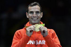 Ami a kardnál is fényesebb: Szilágyi Áron olimpiai aranyérme! (MTI Fotó: Czeglédi Zsolt)