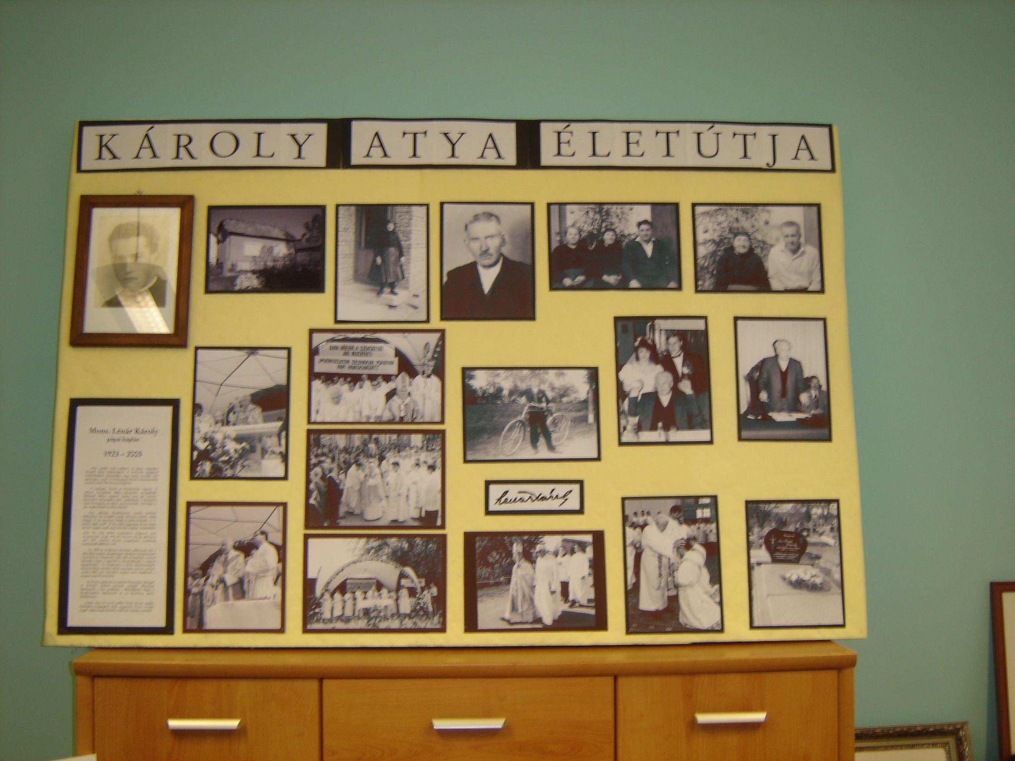Tabló mutatja be Lénár Károly életútját. Fotó: Bodzsár Gy.
