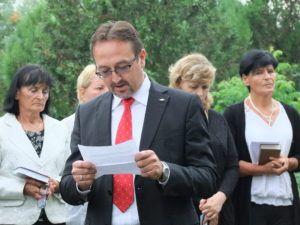 Dudás Norbert, az MKP Nagycétényi Helyi Szervezetének alelnöke (Fotó: Tóth Klára)