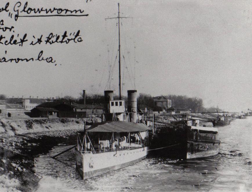 A brit hajó 1924 telét Komáromban töltötte (Fotó: a szerző archívuma)