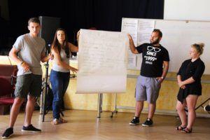 Az egyik csoport prezentálás közben (Fotó: Pásztor Péter)