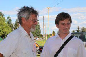 Cziglényi Attila Deák Józseffel, Ipolyszécsényke polgármesterével (Fotó? Pásztor Péter)