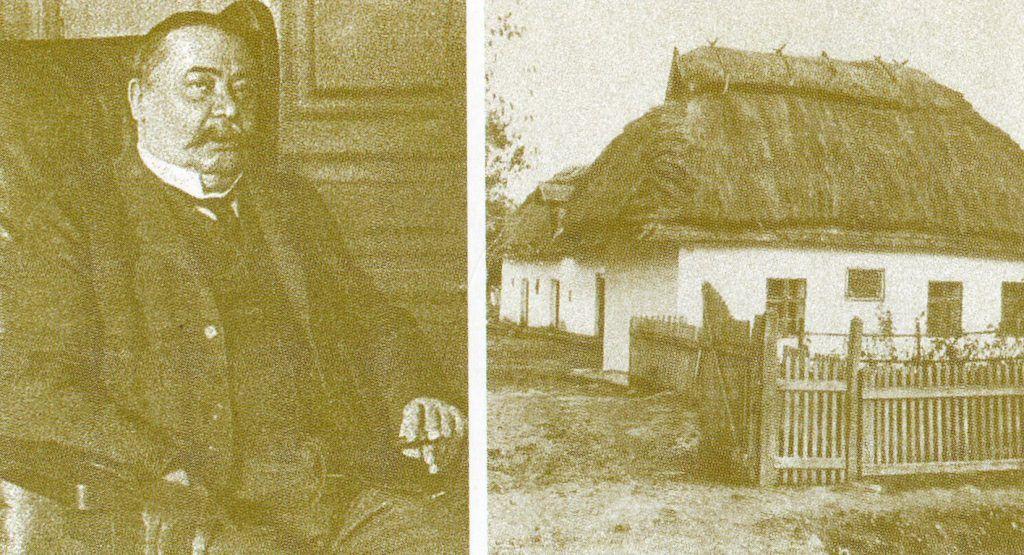 Mikszáth és Szklabonya egy képeslapon. A szerző repr.
