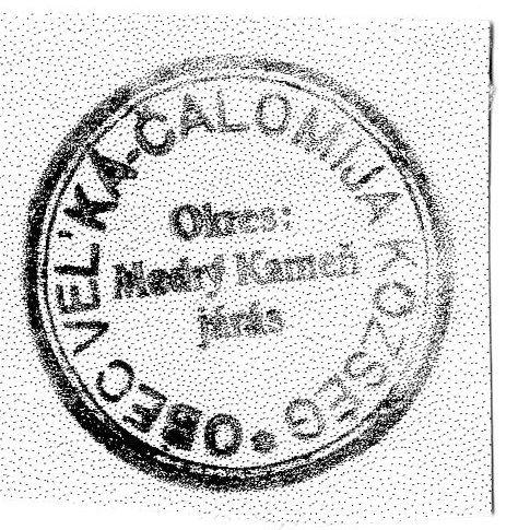 Nagycsalomja bélygzője 1945-ből. Csáky Károly repr.