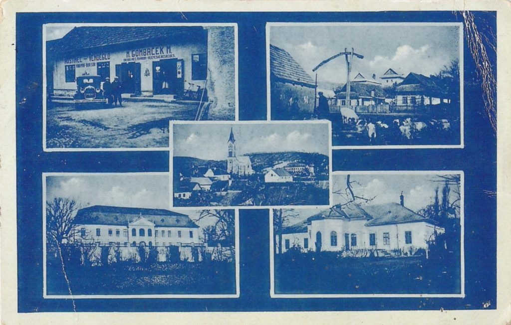 Palást egy régi képeslapon. A szerző reprodukciója