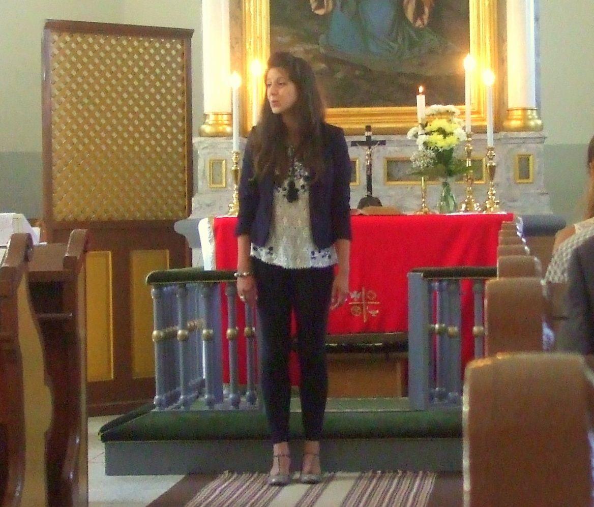Szemerédi Bernadett énekli az Ave Maria-t Fotó: Sztakó Zsolt