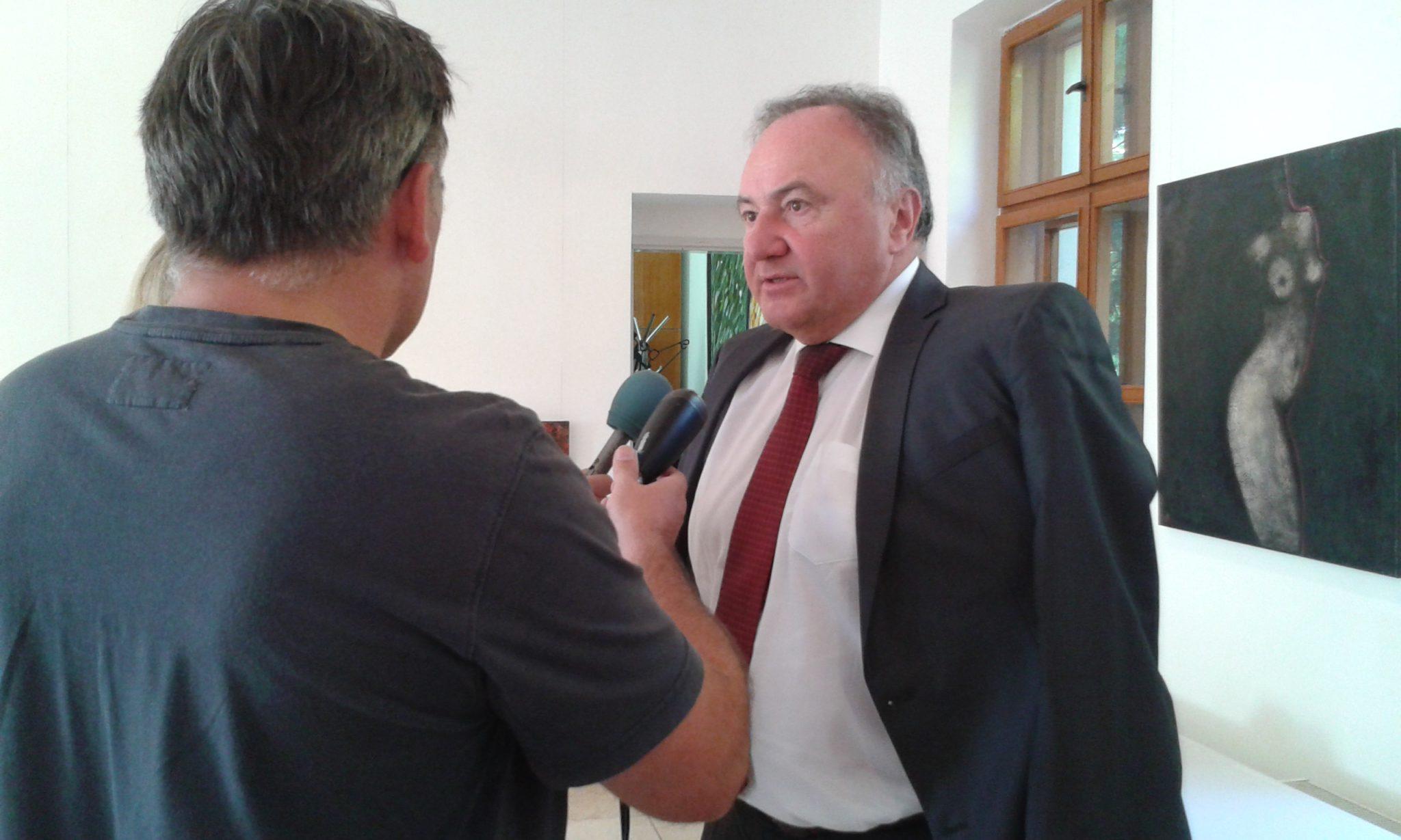 Csáky Pál, aki a Csemadokot a díjra jelölte. (Fotó: B. Vida Júlia/Felvidék.ma)