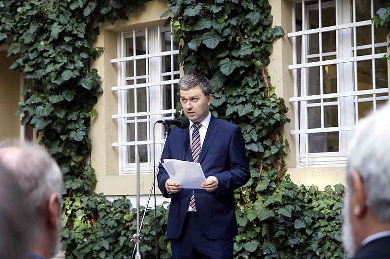 Mózes Szabolcs, a Pozsonyi Magyar Szakkollégium igazgatója (Fotó: Hideghéthy Andrea/Felvidék.ma)
