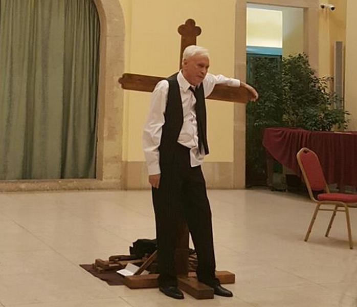 Siposhegyi Péter monodrámájának pénteki budapesti előadásán