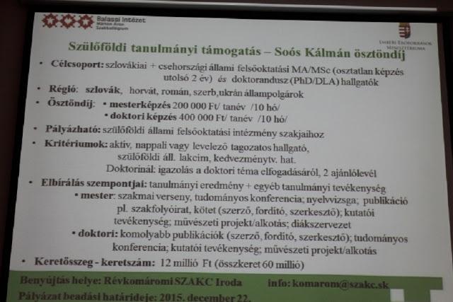 Az idén az ELTE és az EMMI hirdeti meg a Soós Kálmán ösztöndíjat (Fotó: SZE)