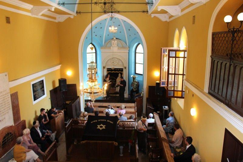 A piciny zsinagógában évente többször is rendeznek koncerteket, hiszen csodálatos az akusztikája (Fotó: Szalai Erika/Felvidek.ma)