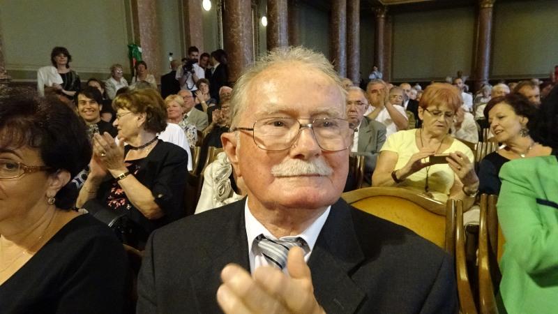 Kováts Miklós negyvenhárom évig volt a kassai magyar Ipari tanára. (Fotó: Gecse Géza/Felvidék.ma)