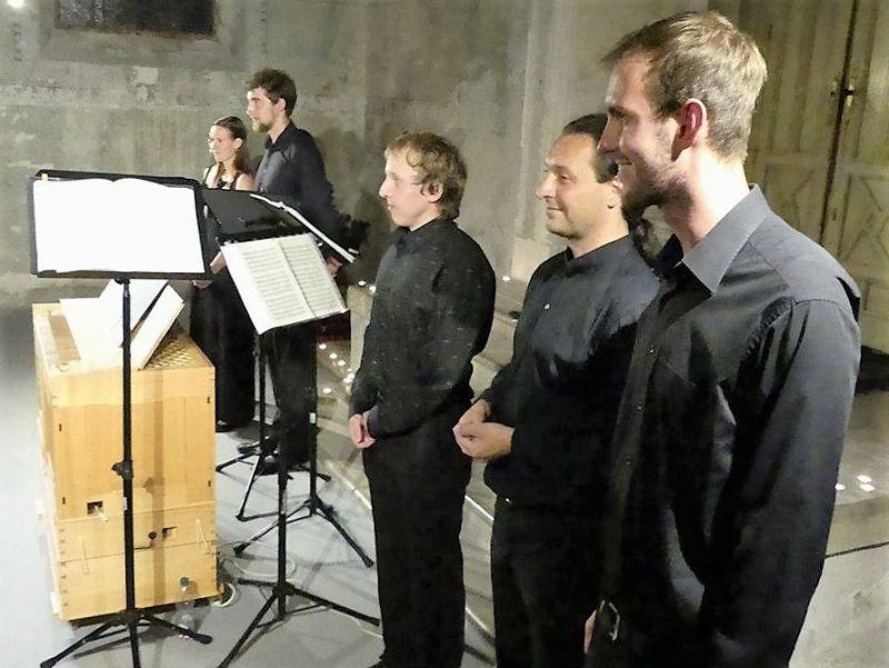 A prágai kórus a koncerten