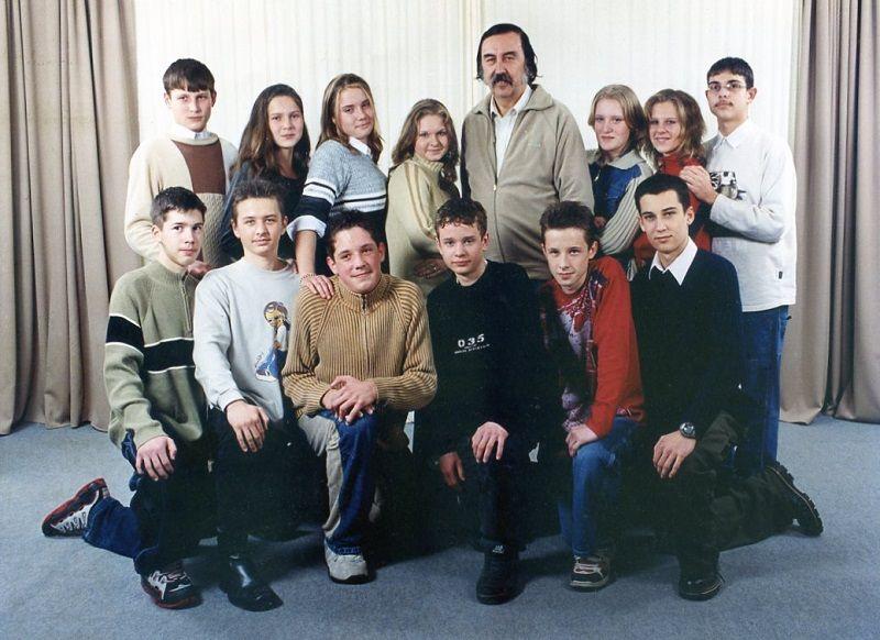Egyik osztályommal Paláston