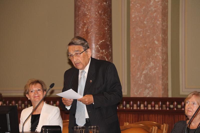 Hámori József, a Magyar Örökség Díj Bizottság elnöke (Fotó: SzJ)