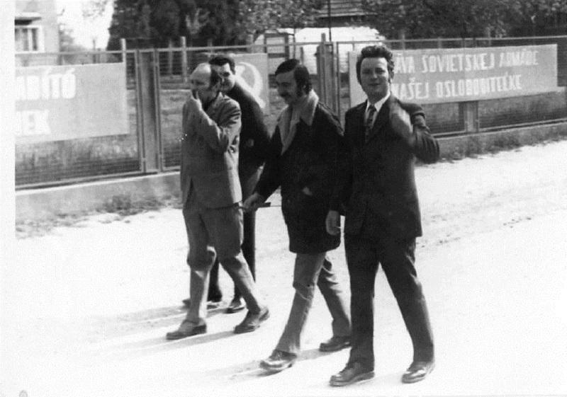 Május elsejei felvonuláson Ipolybalogon (Fotó: CSK archívumából)