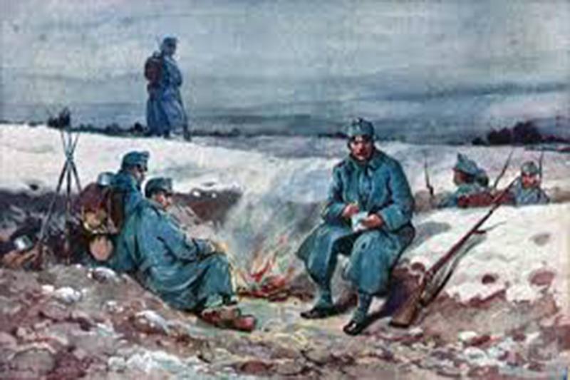 Tél a lövészárkokban